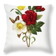 Redoute: Hellebore, 1833 Throw Pillow