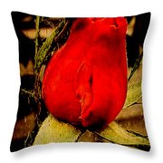 Redrose Throw Pillow