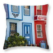 Reds And Blues Throw Pillow