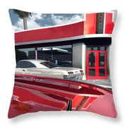 Reds Five And Dime Throw Pillow