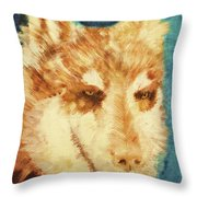 Red's Wolf Throw Pillow