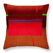 Redscape Throw Pillow