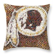 Redskins Mosaic Throw Pillow