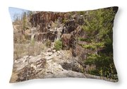 Redstone Granite Quarry - Conway New Hampshire Throw Pillow