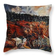 Redu Village Belgium Throw Pillow