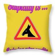 Reducing Bigstock Donkey 171252860 Throw Pillow
