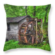Reed Springs Grist Mill Throw Pillow