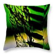 Reeds And Ferns Throw Pillow