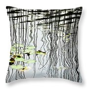 Reeds And Reflections Throw Pillow