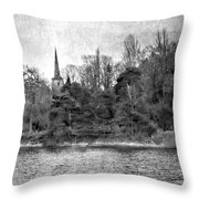 Reeds And Religion Black And White Throw Pillow