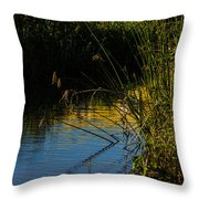Reeds And The Riverside Throw Pillow