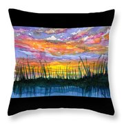 Reedy Sunset Throw Pillow