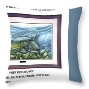 Reef King Musky Throw Pillow by JQ Licensing