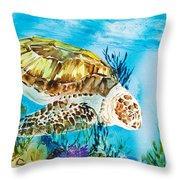 Reef Surfin Throw Pillow by Tanya L Haynes - Printscapes