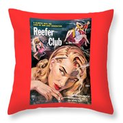 Reefer Club Throw Pillow