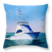 Reel Lady Throw Pillow