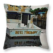 Reel Therapy Throw Pillow