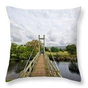 Reeth Swing Bridge Throw Pillow