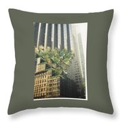 Reflect On Trump Building Throw Pillow