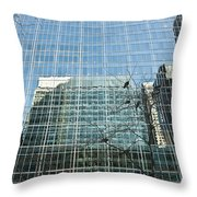 Reflected Buildings Throw Pillow