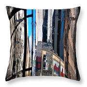Reflected City Throw Pillow