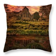Reflected In The Stour Throw Pillow