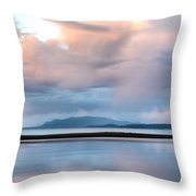 Reflected Pink Throw Pillow