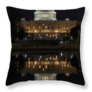 Reflecting At The Capitol Throw Pillow