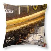 Reflecting Boat  Throw Pillow