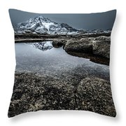 Reflecting Mountain Throw Pillow
