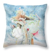 Reflecting On Civilization Throw Pillow