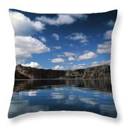 Reflecting On Crater Lake Throw Pillow