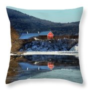 Reflecting On Farms By Connecticut Throw Pillow