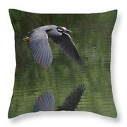 Reflecting On Flight Throw Pillow