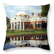 Reflecting On Jefferson Throw Pillow