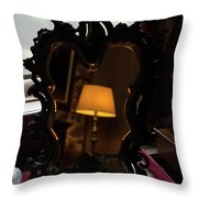 Reflecting On Lamps And Dreams  Throw Pillow