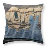 Reflecting On Noto Cathedral Saint Nicholas Of Myra - Sicily Italy Throw Pillow
