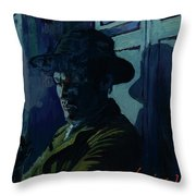 Reflecting On The Nightmare Throw Pillow