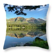 Reflecting On The Ruby Range Throw Pillow