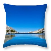 Reflecting On Treasure Lake Throw Pillow