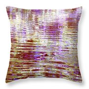 Reflecting Purple Water Throw Pillow