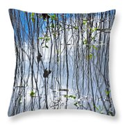 Reflecting Reeds Throw Pillow