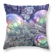 Reflecting Spheres In Space Throw Pillow