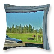 Reflecting The Country Throw Pillow