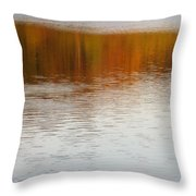 Fall Reflections 6 On Jamaica Pond Throw Pillow
