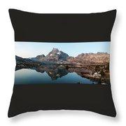 Reflection At Thousand Island Lake Throw Pillow