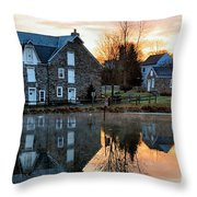 Reflection At Wagner Mill Throw Pillow