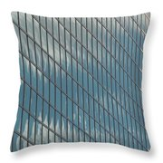 Reflection Clouds On Building Throw Pillow