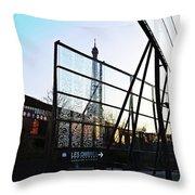 Reflection Eiffel Paris Throw Pillow