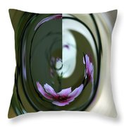 Reflection In A Drop Throw Pillow